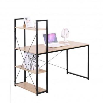 Bureau style industriel avec 4 étagères