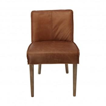 Chaises en cuir Emma - lot de 2