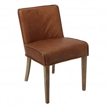 Chaises en cuir Emma - Lot de 6