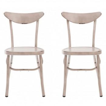 Chaise en aluminium vendu par 2 Marie