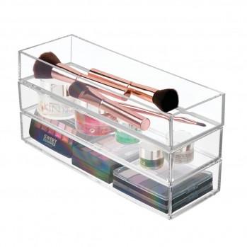 Lot de 2 tiroirs boites de rangement pour cosmétiques