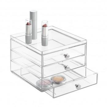 Boite de rangement cosmétique 3 tiroirs slim