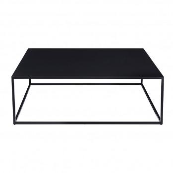 Table basse structure métallique laquée noir