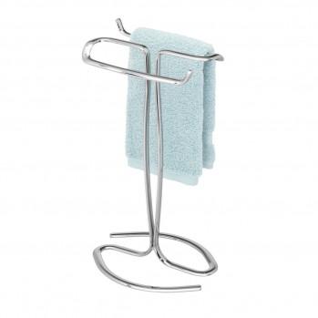 Porte-serviettes sur pieds en acier