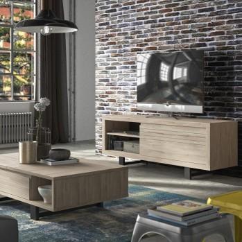 Meuble TV couleur chêne 1 tiroir - Fabrication Française