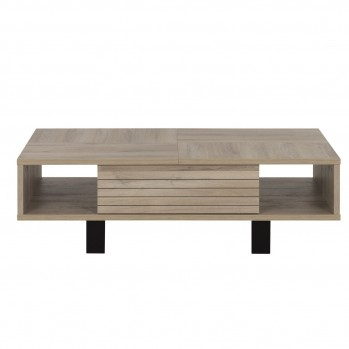 Table basse 1 tiroir couleur chêne  - Fabrication Française