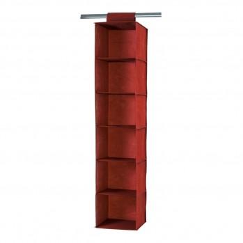 Rack pour pull en tissu avec 6 cases