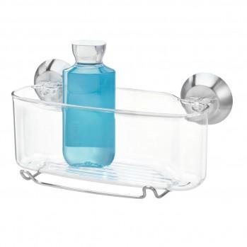 Panier de douche à ventouse plastique transparent forma