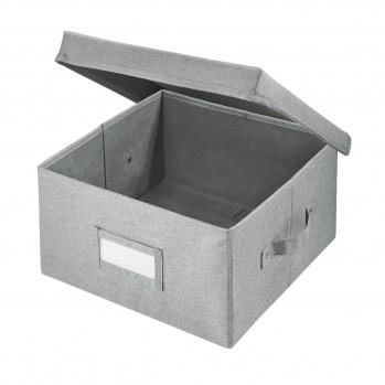 Cube de rangement polyester gris 43x29cm codi
