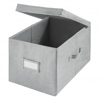 Cube de rangement polyester gris 43x22cm codi