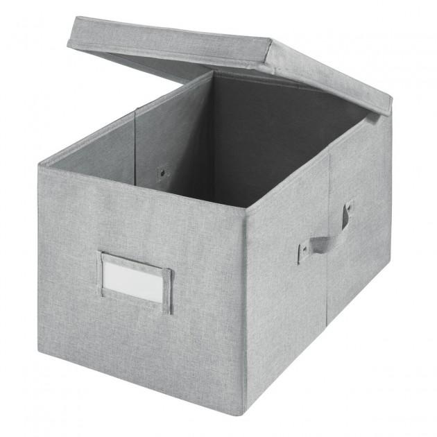 Cube de rangement polyester gris  codi