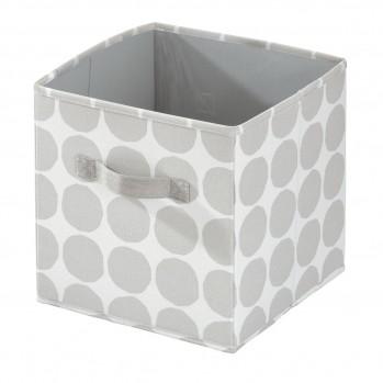 Cube de rangement avec motif en polyester gris 26 x 28 cm dot