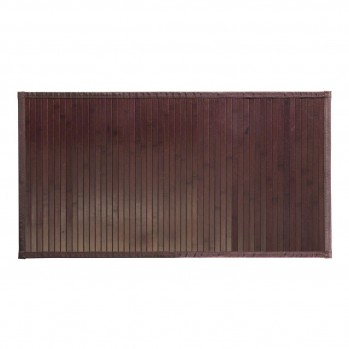 Tapis de bain en bambou brun mocha 86 x 53 cm