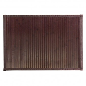 Tapis de bain en bambou brun mocha 61 x 43 cm