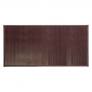 Tapis de bain en bambou brun mocha 122 x 61 cm