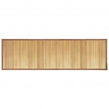 Tapis de bain en bambou brun clair 53 x 152 cm