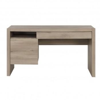 Bureau un tiroir et une porte couleur chêne Ethan - Fabrication Française