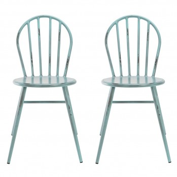 Chaises en métal Juliette - lot de 2