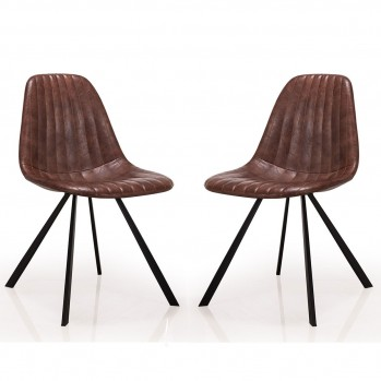Chaises en vinyle Facelle - lot de 2