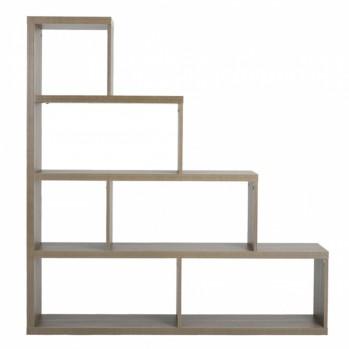 Etagère en escalier 6 casiers effet bois chêne