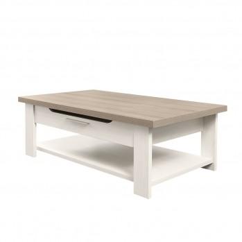 Table basse bois clair avec tiroir Toscane - fabrication française