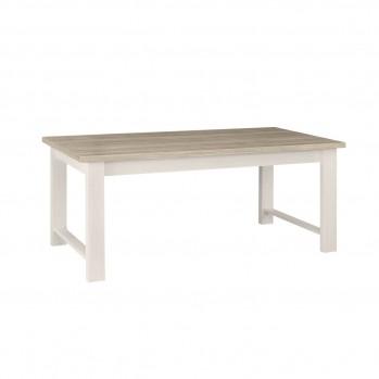 Table à manger rectangulaire blanche Toscane - fabrication française