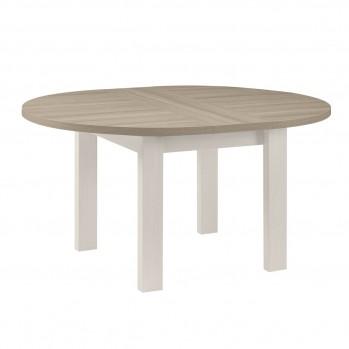 Table à manger ronde avec allonge incluse - Fabrication Française