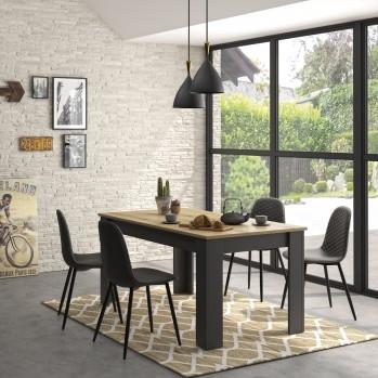 Table à manger rectangulaire extensible Manchester - Fabrication Française
