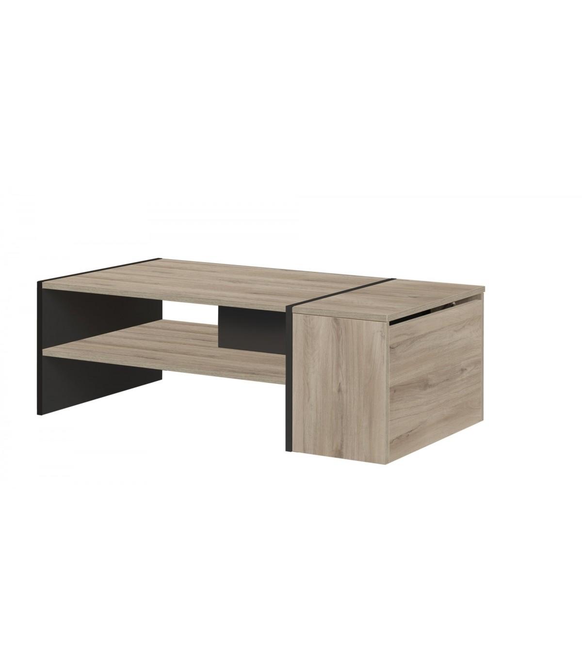 Table Basse Avec Rangement Bar Yori Fabrication Francaise