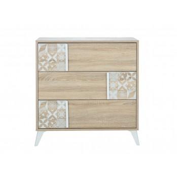 Commode 3 tiroirs de rangement Chloe - Fabrication Française