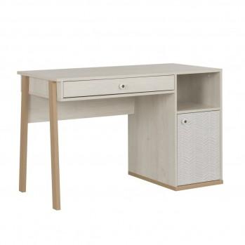 Bureau Alika avec niche, une porte et un tiroir - Fabrication Française