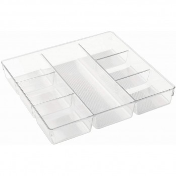 Bac de rangement pour tiroir 7 compartiments