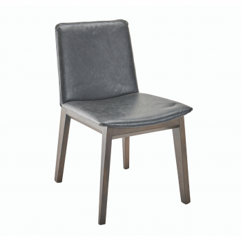 Chaises Art Vinyle Gris - Lot de 2