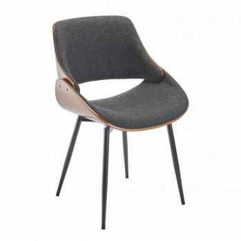 Chaise tissu gris Mannix