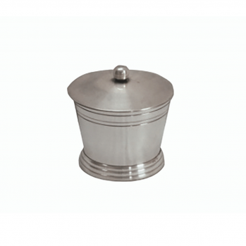 Boîte à coton en métal moyenne