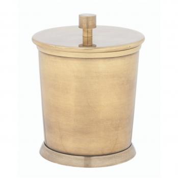 Boîte à coton en laiton finition dorée