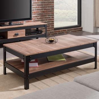 Table basse structure métallique laquée noire