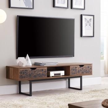 Meuble Tv en bois 2 tiroirs avec une niche Anaëlle