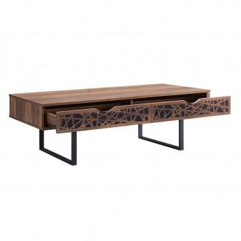 Table basse en bois avec 2 tiroirs Anaëlle