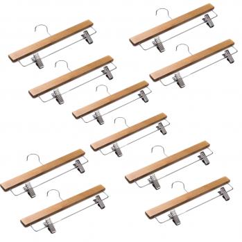 Cintre à pinces en bois - lot de 10