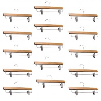 Cintre à pinces en bois - lot de 15