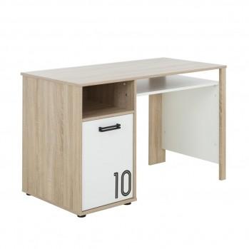 Bureau avec une porte et grande tablette style naturel - fabrication française