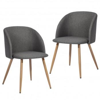 Chaises de salon nordique en tissu - lot de 2