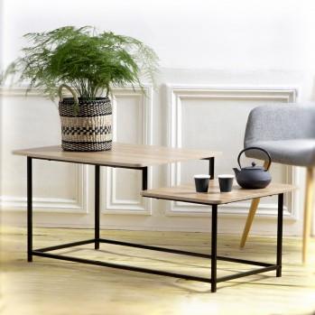 Table basse 2 niveaux style industriel