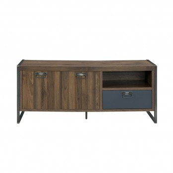 Meuble TV Noyer Columbia avec un tiroir 2 portes
