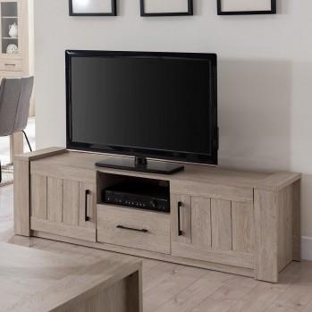 Meuble TV un tiroir 2 portes chêne doux
