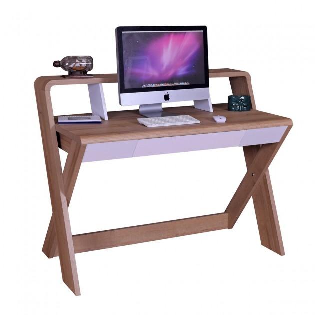Bureau d'ordinateur avec grand tiroir