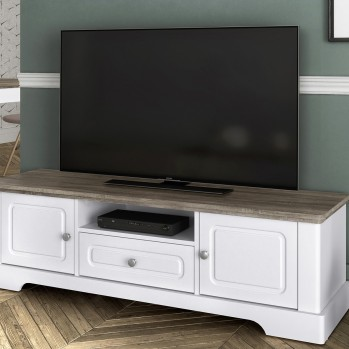 Meuble TV 2 portes un tiroir Dessy