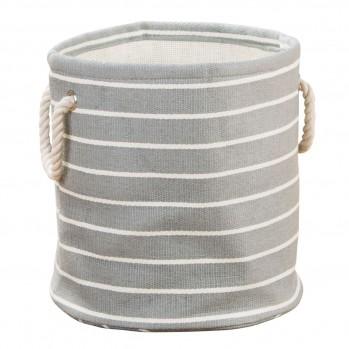 Panier de rangement cylindre 40x26cm papier tressé rayures luca