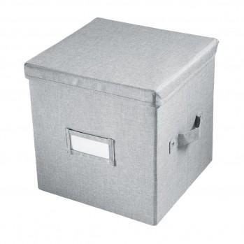 Cube de rangement polyester gris 33x29cm codi